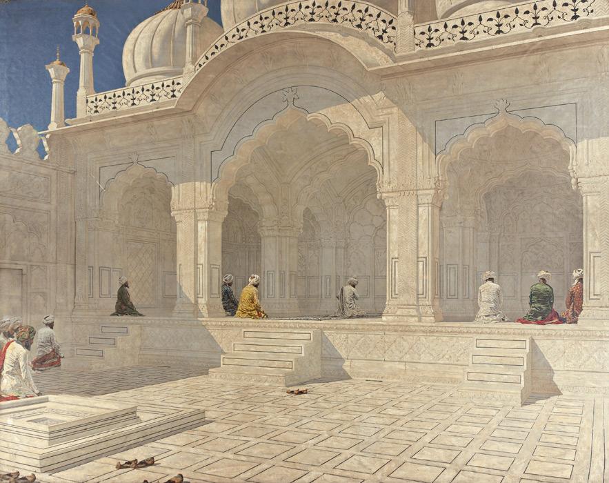 フリー絵画 ヴァシーリー・ヴェレシチャーギン作「デリーの真珠のモスク」