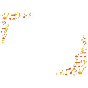 フリーイラスト, ベクター画像, AI, 背景, フレーム, 対角フレーム, 音楽, 音符