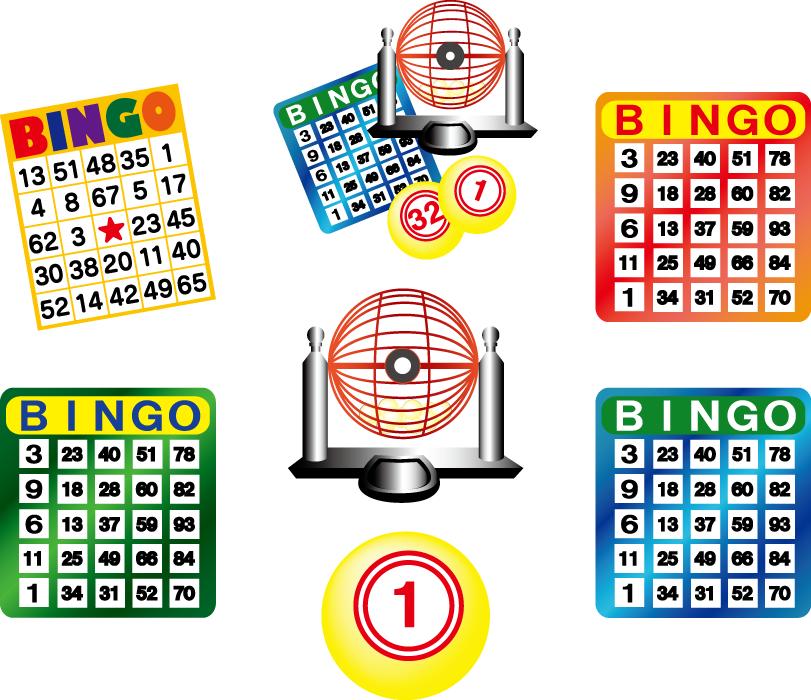 フリーイラスト 7種類のビンゴゲームのセット
