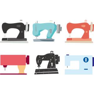 フリーイラスト, ベクター画像, AI, 裁縫道具, ミシン