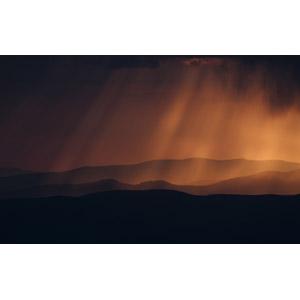 フリー写真, 風景, 自然, 山, 太陽光(日光), 薄明光線, ウクライナの風景