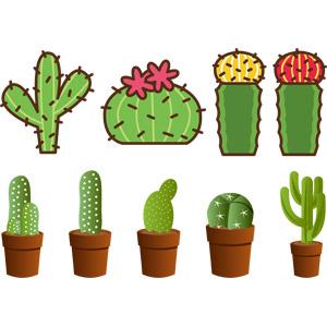 フリーイラスト, ベクター画像, AI, 植物, 多肉植物, サボテン