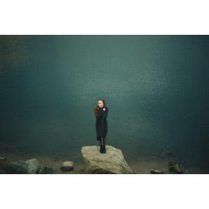 フリー写真, 人物, 女性, 外国人女性, ロシア人, 人と風景, 河川