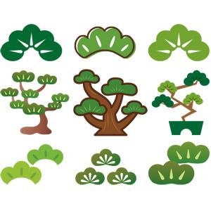 フリーイラスト, ベクター画像, AI, 植物, 樹木, 松(マツ), 盆栽
