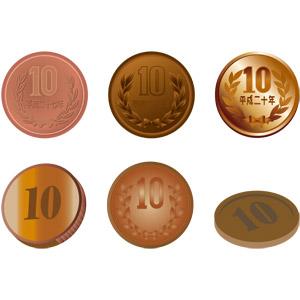 フリーイラスト, ベクター画像, AI, お金, 日本円, 硬貨, 十円玉(十円硬貨)