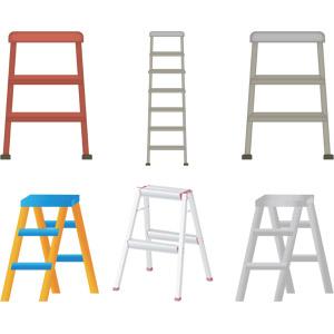 フリーイラスト, ベクター画像, AI, 梯子(はしご), 脚立, 工具