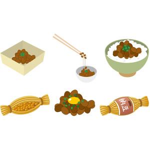 フリーイラスト, ベクター画像, AI, 食べ物(食料), 料理, 納豆, 豆(マメ), 朝食, 日本料理, 和食