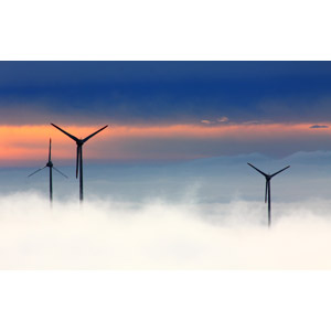 フリー写真, 風景, 機械, 風力発電機, 再生可能エネルギー, 発電, 雲, ドイツの風景