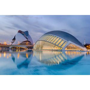 フリー写真, 風景, 建造物, 建築物, 劇場, プラネタリウム, 芸術科学都市, ソフィア王妃芸術宮殿, レミスフェリック, スペインの風景, バレンシア