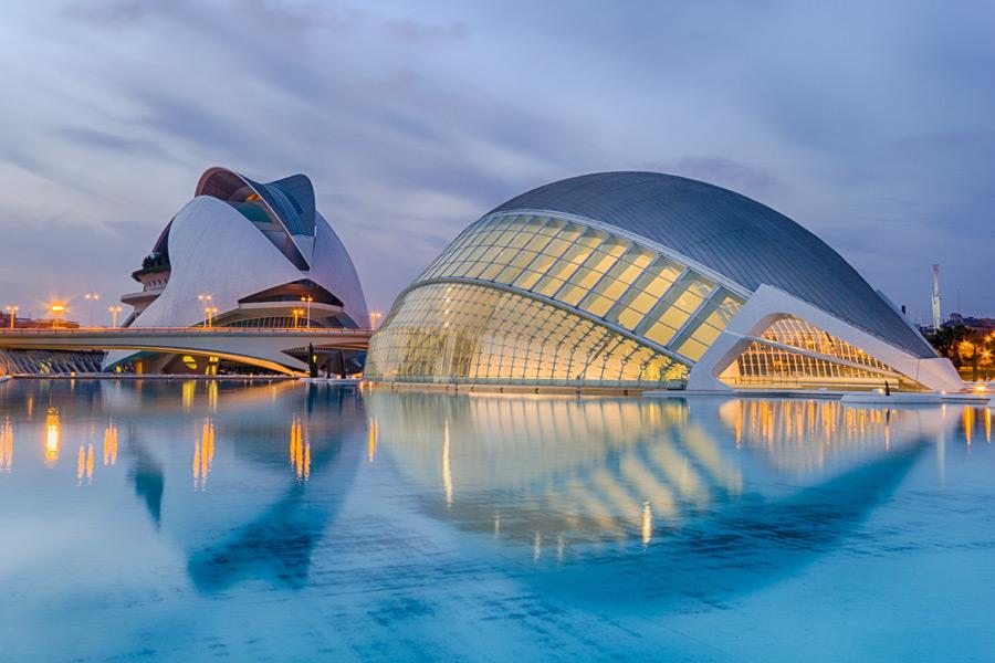 フリー写真 芸術科学都市の風景