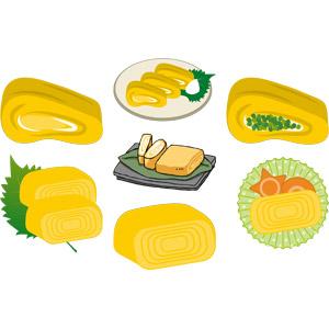 フリーイラスト, ベクター画像, AI, 食べ物(食料), 料理, 卵料理, 卵焼き(玉子焼き)