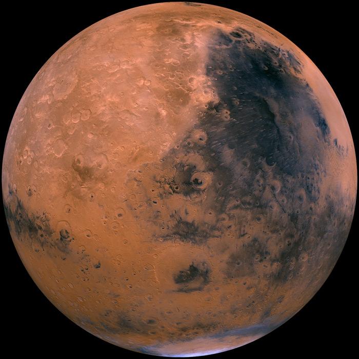 フリー写真 1980年に撮影された火星