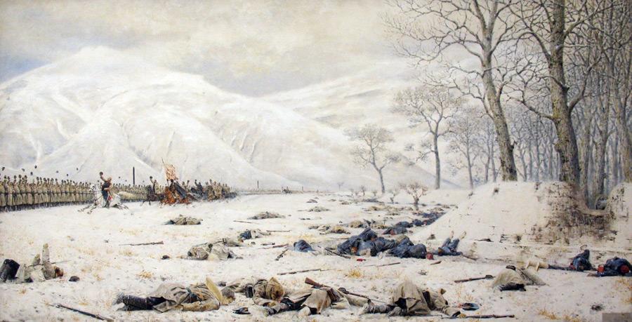フリー絵画 ヴァシーリー・ヴェレシチャーギン作「シプカ峠の戦場」
