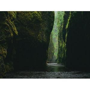 フリー写真, 風景, 自然, 渓谷, 河川, 岩山, アメリカの風景, オレゴン州