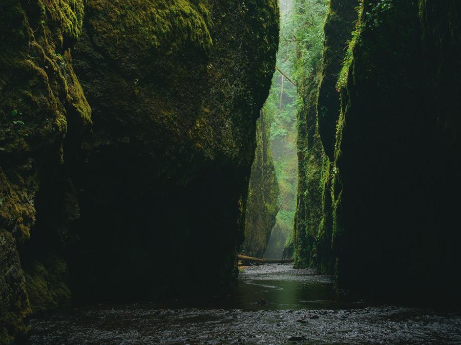 フリー写真 オネオンタ渓谷の風景