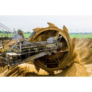 フリー写真, 建設機械(重機), バケットホイールエクスカベーター, 土木, 工事