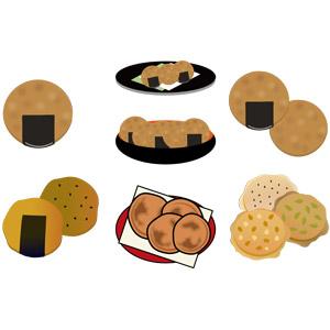 フリーイラスト, ベクター画像, AI, 食べ物(食料), 菓子, 和菓子, 煎餅(せんべい), ぬれ煎餅, 千葉県, 南部煎餅, 青森県, 岩手県