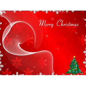 フリーイラスト, ベクター画像, EPS, 背景, 年中行事, クリスマス, 12月, 冬, クリスマスツリー, 雪の結晶, メリークリスマス, 赤色(レッド)