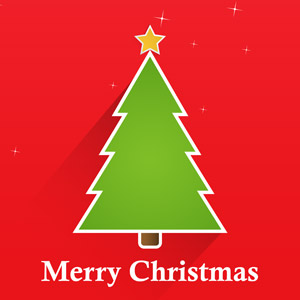 フリーイラスト, ベクター画像, AI, 背景, 年中行事, クリスマス, 12月, クリスマスツリー, メリークリスマス