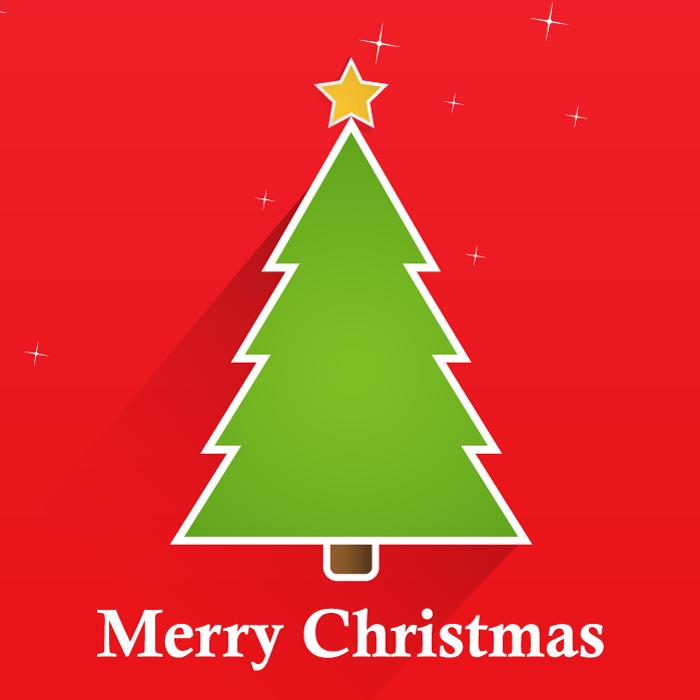 フリーイラスト クリスマスツリーの背景