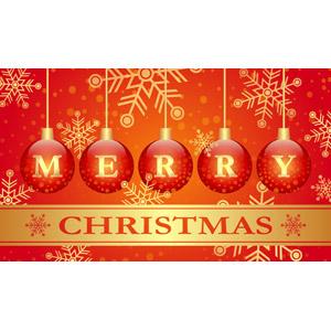 フリーイラスト, ベクター画像, SVG, 背景, 年中行事, クリスマス, 12月, 冬, 雪の結晶, メリークリスマス, クリスマスボール