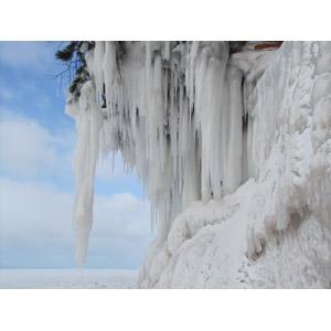 フリー写真, 風景, 氷柱(つらら), 氷, 冬, アメリカの風景, ミネソタ州