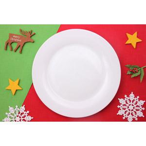 フリー写真, 背景, 年中行事, クリスマス, 12月, 食器, お皿