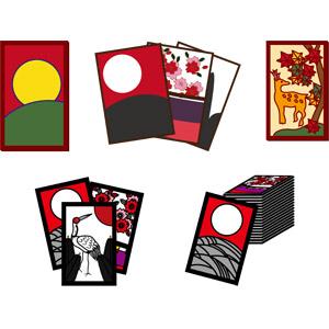 フリーイラスト, ベクター画像, AI, ゲーム, 花札, カードゲーム, 賭博(ギャンブル)