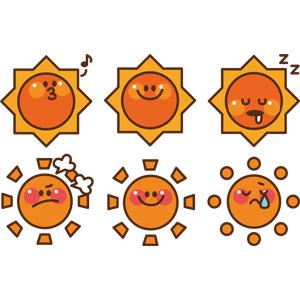 フリーイラスト, ベクター画像, AI, 天体, 太陽, 天気, 晴れ, 口笛