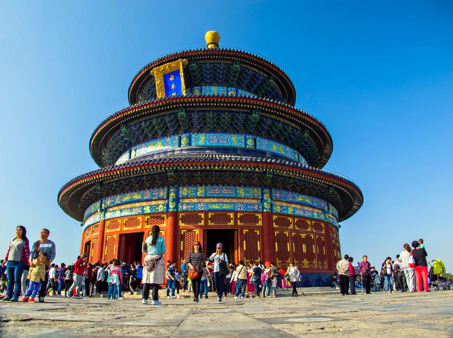 フリー写真 中国の世界遺産の天壇の風景