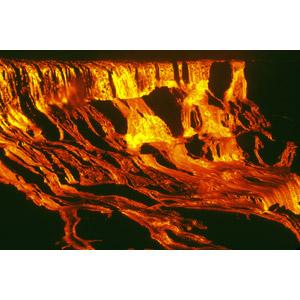 フリー写真, 風景, 自然, 災害, 自然災害, 噴火, 火山, マグマ(溶岩), 夜, キラウエア火山, ハワイ火山国立公園, 世界遺産, アメリカの風景, ハワイ州