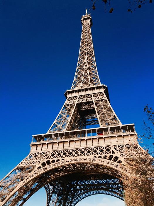 フリー写真 エッフェル塔の風景