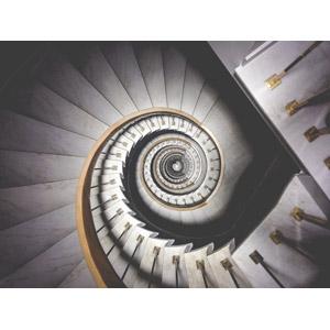 フリー写真, 風景, 建造物, 建築物, 階段, 螺旋階段