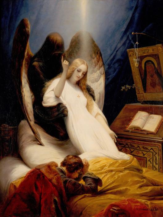 フリー絵画 オラース・ヴェルネ作「死の天使」