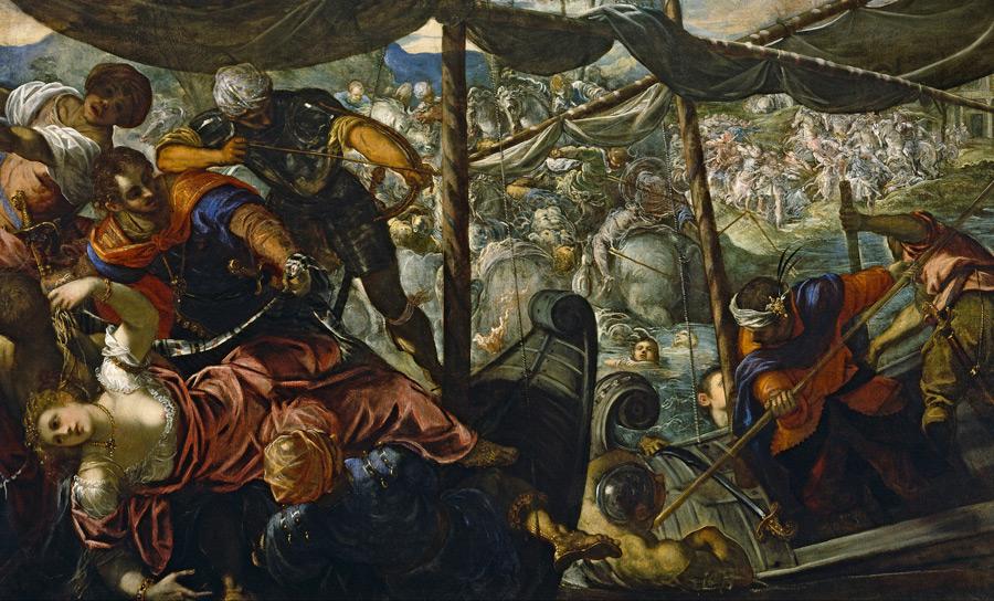フリー絵画 ティントレット作「ヘレネの誘拐」