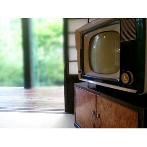 フリー写真, 風景, 家電機器, テレビ(TV), ブラウン管テレビ, 部屋