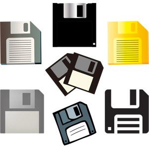 フリーイラスト, ベクター画像, AI, パソコンの周辺機器, フロッピーディスク, 補助記憶装置