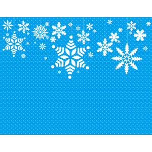 フリーイラスト, ベクター画像, AI, 背景, 雪の結晶, 冬, 水玉模様(ドット柄), 青色(ブルー)