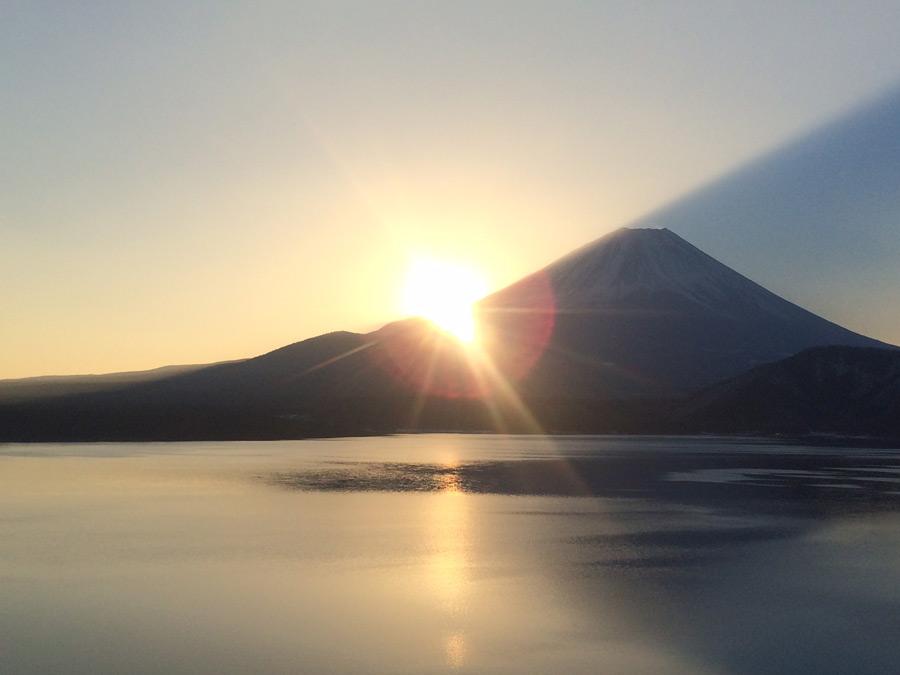 フリー写真 富士山と初日の出