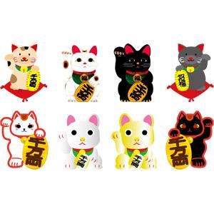 フリーイラスト, ベクター画像, AI, 招き猫, 人形, 猫(ネコ)