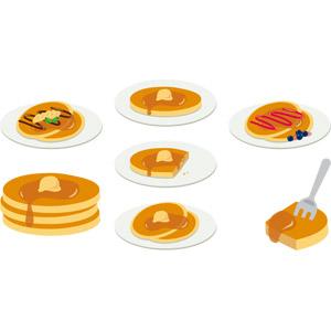 フリーイラスト, ベクター画像, AI, 食べ物(食料), 菓子, 洋菓子, スイーツ, ケーキ, パンケーキ(ホットケーキ)
