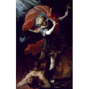 フリー絵画, クラウディオ・コエーリョ, 宗教画, 旧約聖書, ミカエル, 大天使, 悪魔(デビル), 刀剣, 武器, 剣(ソード)