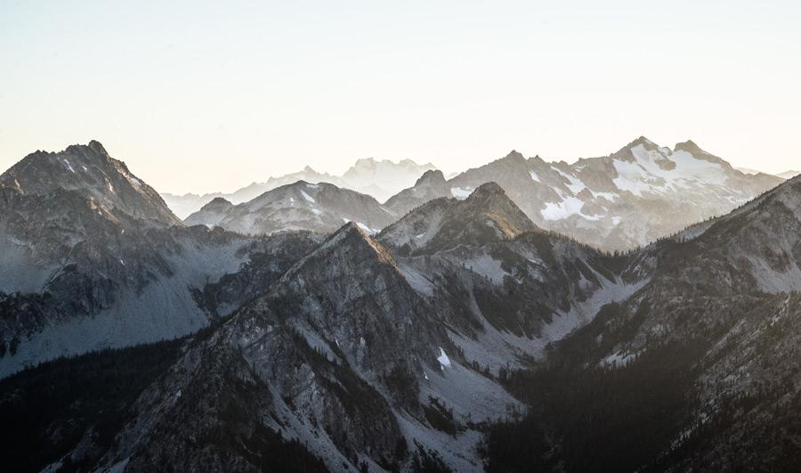 フリー写真 ワシントン州のカスケード山脈の風景