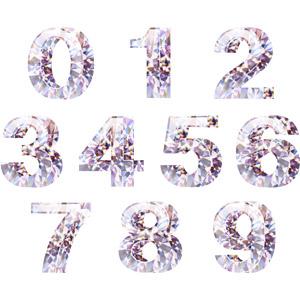 フリーイラスト, ベクター画像, AI, 数字, ダイヤモンド, 宝石, 0(零), 1(一), 2(二), 3(三), 4(四), 5(五), 6(六), 7(七), 8(八), 9(九)