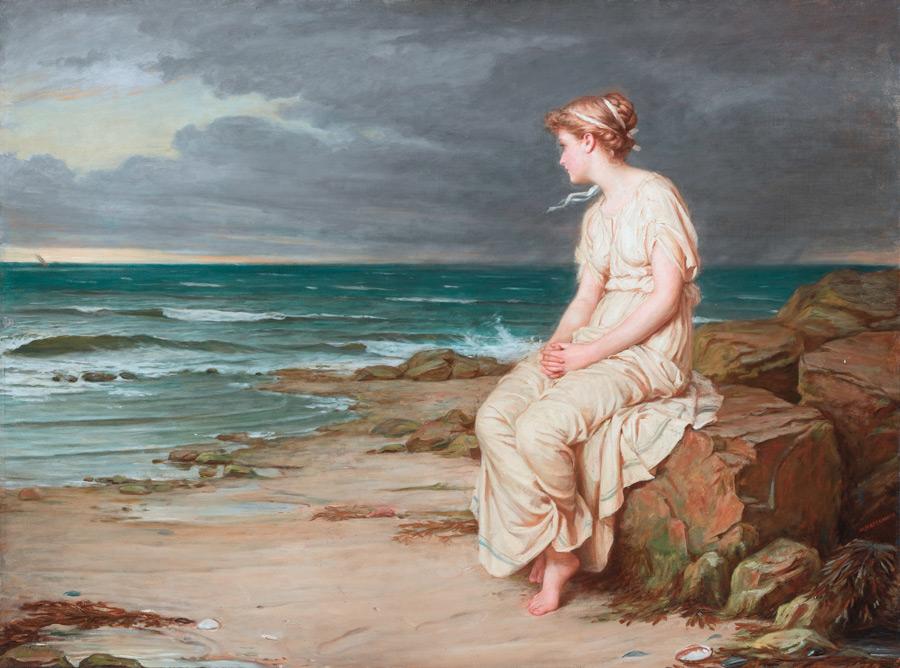 フリー絵画 ジョン・ウィリアム・ウォーターハウス作「ミランダ」