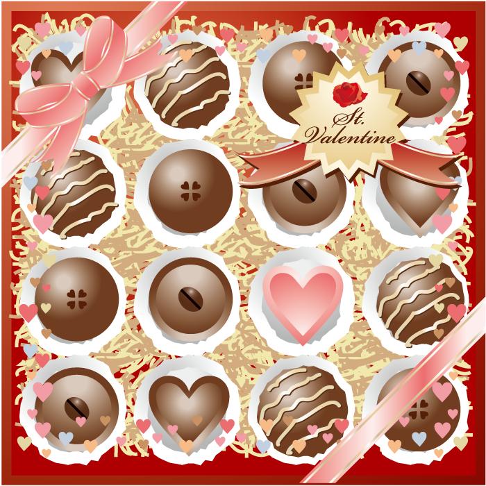 フリーイラスト バレンタインチョコレート