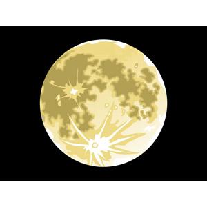 フリーイラスト, ベクター画像, AI, 風景, 自然, 夜空, 天体, 月, 満月