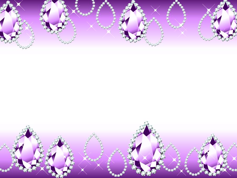 フリーイラスト アメジストの宝石の飾り枠