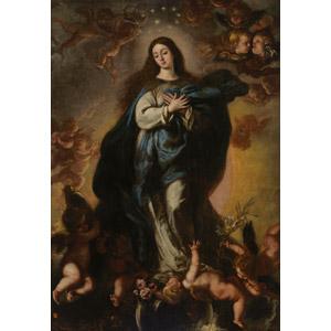 フリー絵画, クラウディオ・コエーリョ, 宗教画, キリスト教, 新約聖書, 聖母マリア, 無原罪の御宿り, 天使(エンジェル), 胸に手を当てる, 妊娠