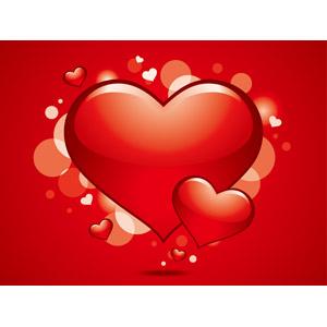 フリーイラスト, ベクター画像, EPS, 背景, ハート, 愛(ラブ), 年中行事, 2月, バレンタインデー, 赤色(レッド)